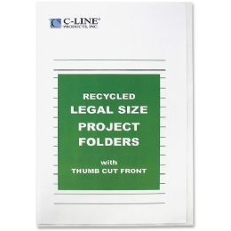 40 of C-Line Recycled Project Folders, Clear - Reduced Glare, Legal, 14 X 8 1/2, 25/bx, 62129