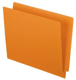 5 of Color End Tab Folders, Orange