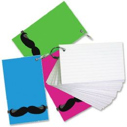 64 of RedI-Tag Mustache Band Ruled Index Cards