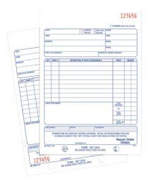 10 of Repair Order Book, 2-Part, 50 Sh/bk