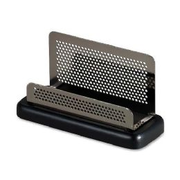 104 of Rolodex Distinctions Pewter Business Card Holder