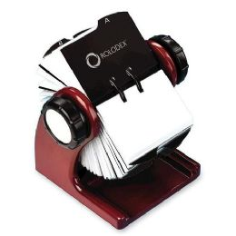 20 of Rolodex Wood Tones Rotary Business Card File