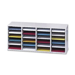 Safco 24 Compartment Adjustable Shelves Literature Organizer