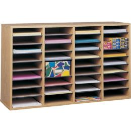 Safco 36 Compartment Adjustable Shelves Literature Organizer