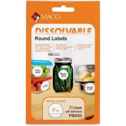 Maco Dissolvable Labels