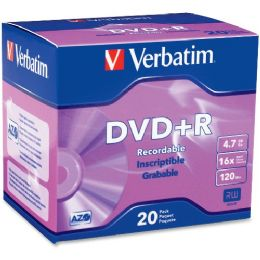 54 of Verbatim 95038 Dvd Recordable Media - Dvd+r - 16x - 4.70 Gb - 20 Pack Slim Case