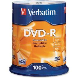Verbatim 95102 Dvd Recordable Media - DvD-R - 16x - 4.70 Gb - 100 Pack Spindle