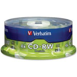 Verbatim 95169 Cd Rewritable Media - CD-Rw - 4x - 700 Mb - 25 Pack Spindle