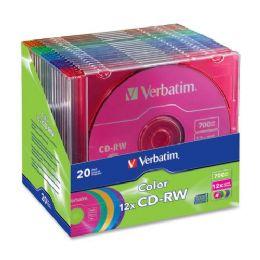 42 of Verbatim 96685 Cd Rewritable Media - CD-Rw - 12x - 700 Mb - 20 Pack Slim Case
