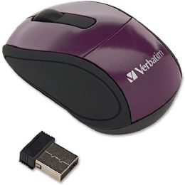 Verbatim Wireless Mini Travel Mouse Purple