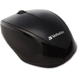 Verbatim Wireless MultI-Trac Blue Led Optical Mouse - Black