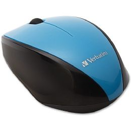 Verbatim Wireless MultI-Trac Blue Led Optical Mouse - Blue