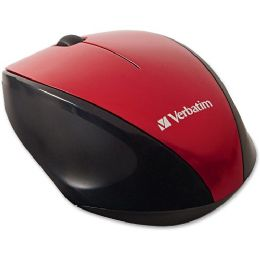 Verbatim Wireless MultI-Trac Blue Led Optical Mouse - Red