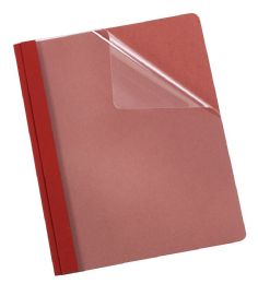 5 of Earthwise By Oxford 100% Recycled Clear Front Report Covers, Letter Size, Red