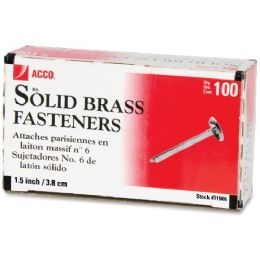 Acco Solid Brass Round Head Fasteners