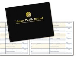 """6 of Adams Notary Public Record Book, 6 Entries Per Page, 8-1/2"""" X 11"""""""