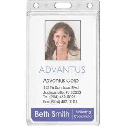 Advantus Frosted Vertical Badge Holder
