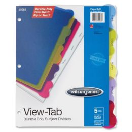 96 of Wilson Jones VieW-Tab Poly Divider Without Pockets