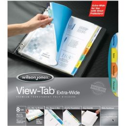 36 of Wilson Jones VieW-Tab Transparent Dividers, Extra Wide
