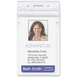 Advantus Vertical RE-Sealable Badge Holder