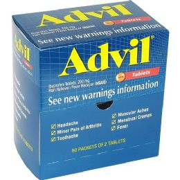 24 of Advil Pain Reliever Single Dose Packets 50 Pack