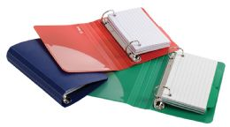 6 of Oxford Poly Index Card Binders, 3 X 5, Assorted, No Color Choice, 2 Each