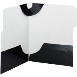 20 of Smead 87963 Black Supertab TwO-Pocket File Folder