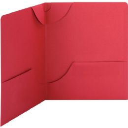 Smead 87980 Red Lockit TwO-Pocket File Folder