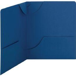 Smead 87982 Dark Blue Lockit TwO-Pocket File Folder