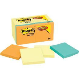 PosT-It Notes Value Pack In Canary Yellow With 4 Free Pads In Bright Colors
