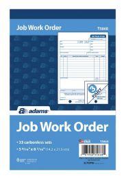 10 of Job Work Order Book, 3-Part, Carbonless, 33 St/bk