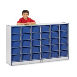 Rainbow Accents 30 CubbiE-Tray Mobile Storage - With Trays - Blue