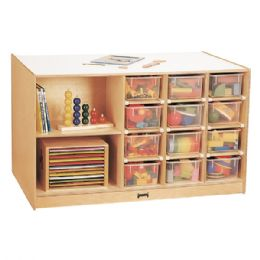 JontI-Craft Mobile Storage Island - With Clear Trays