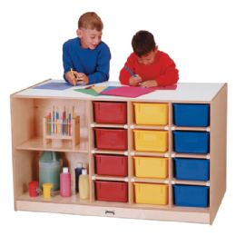 JontI-Craft Mobile Storage Island - With Colored Trays