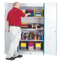 Rainbow Accents Classroom Closet Deluxe - Blue