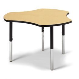 "Berries Collaborative Hub Table - 44"" X 47"" - Maple/black"