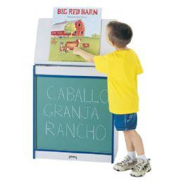 Rainbow Accents Big Book Easel - Chalkboard - Blue