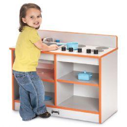 Rainbow Accents Toddler 2-IN-1 Kitchen - Orange