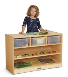 JontI-Craft Stem Combo Mobile Storage Unit With Clear Tubs