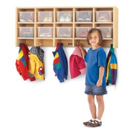 Maplewave 10 Section Wall Mount Coat Locker - With Clear CubbiE-Trays