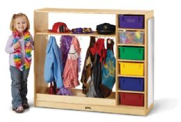 JontI-Craft DresS-Up Storage With Colored Tubs