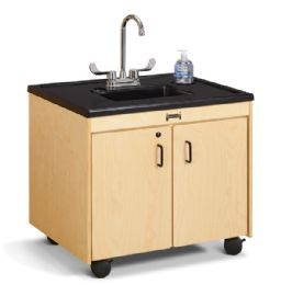 "JontI-Craft Clean Hands Helper - 26"" Counter - Plastic Sink"
