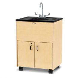 "JontI-Craft Clean Hands Helper - 38"" Counter - Plastic Sink"