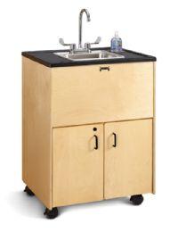 "JontI-Craft Clean Hands Helper - 38"" Counter - Stainless Steel Sink"
