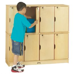 JontI-Craft Stacking Lockable Lockers - Double Stack - Thriftykydz