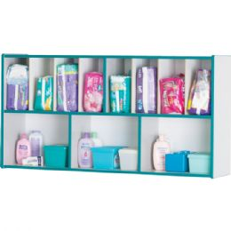 Rainbow Accents Diaper Organizer - Blue