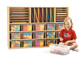 Young Time Sectional Cubbie Storage - With Clear Trays - Rta