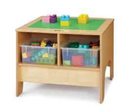 JontI-Craft Kydz Building Table - Preschool Brick Compatible - Without Tubs