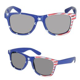 6 of Patriotic Glasses One Size Fits Most
