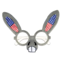 12 of Patriotic Donkey Glasses One Size Fits Most